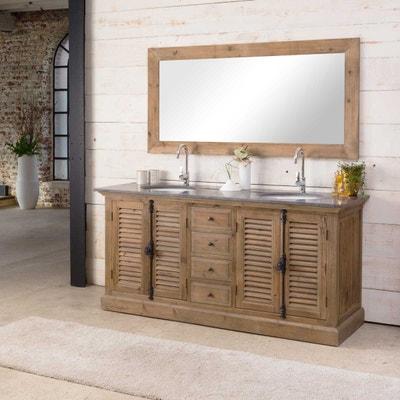 Meuble salle de bain bois massif naturel | La Redoute