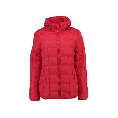 Manteau rouge capuche   La Redoute