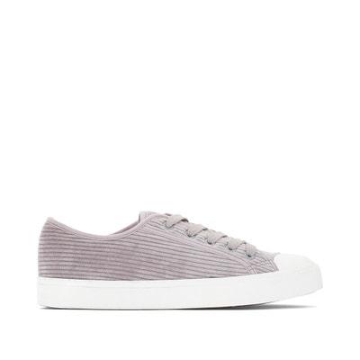 f556fa5cd94 Zapatillas de tejido estilo pana LA REDOUTE COLLECTIONS