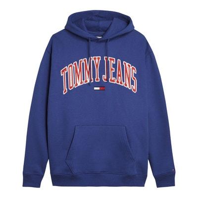 a347111572 Sweat à capuche imprimé logo devant, pur coton Sweat à capuche imprimé logo  devant,