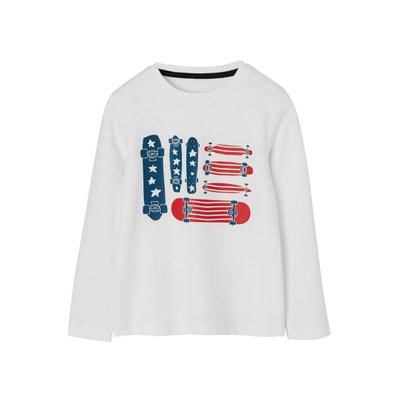 62872e9bfc18a T-shirt garçon motif skates détails encre gonflante VERTBAUDET