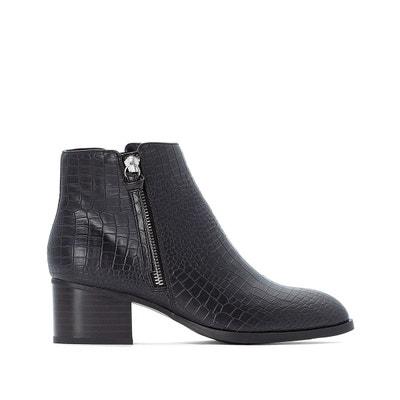Boots zippés côté, effet croco Boots zippés côté, effet croco LA REDOUTE COLLECTIONS