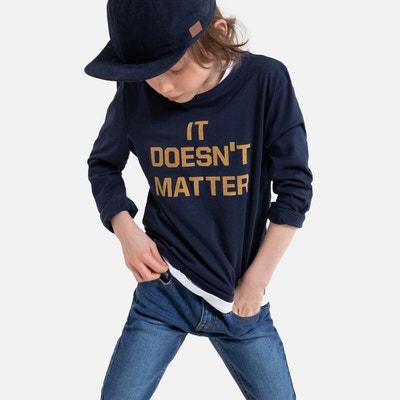 T-shirt met lange mouwen en tekst 3-12 jaar T-shirt met lange mouwen en tekst 3-12 jaar LA REDOUTE COLLECTIONS