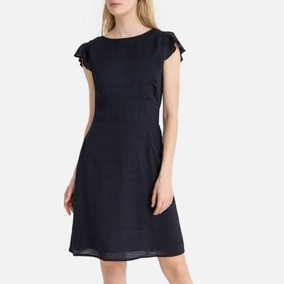 ba7cd950506 Robe bleu marine manche 3/4 femme   La Redoute