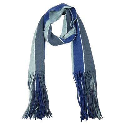 Foulard laine acrylique à franges homme CHAUSSMARO 3b15def500b