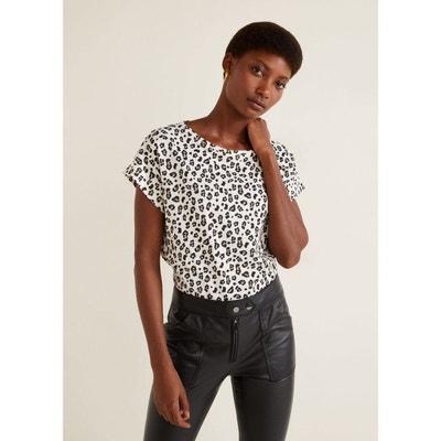 7152ff98b490 T-shirt coton imprimé T-shirt coton imprimé MANGO
