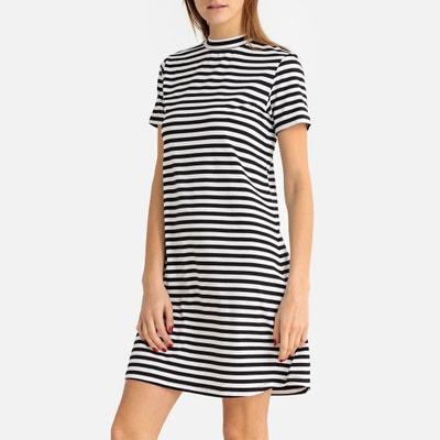 d8f5ff36a249 Breton Striped High-Neck A-Line Dress LA REDOUTE COLLECTIONS