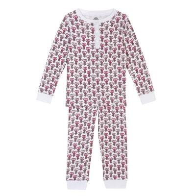 8ebe8c7892abd Pyjama fille en coton bio - Imprimé Eléphant Pyjama fille en coton bio -  Imprimé Eléphant