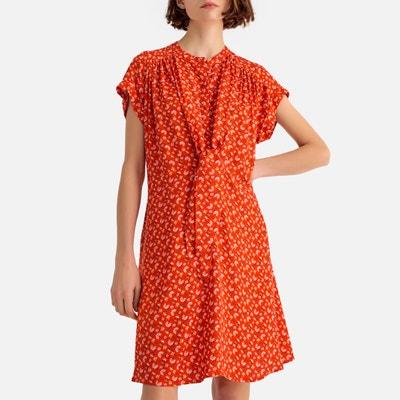 3c5a3d193a Vestido vaporoso de manga corta y estampado de flores Vestido vaporoso de  manga corta y estampado