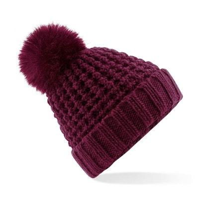 Bonnet à pompon imitation fourrure POPCORN Bonnet à pompon imitation  fourrure POPCORN BEECHFIELD c4c6f8e372a