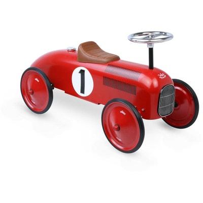 be5de94172333b Porteur voiture en métal Vintage rouge Porteur voiture en métal Vintage  rouge VILAC