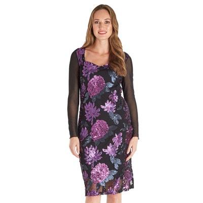05ed83e7228 Robe Sequins Manches Longues Voile Occasion Spéciale Joe Brown Femme Robe  Sequins Manches Longues Voile Occasion
