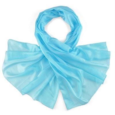 130d03d368d6 Etole soie bleu turquoise ALLEE DU FOULARD