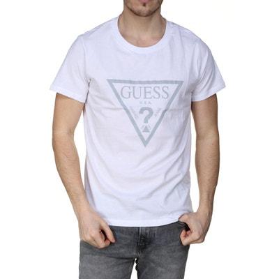 a08b3a36c7 Tee-shirt col rond Guess en coton à rayures roi, et e Tee-