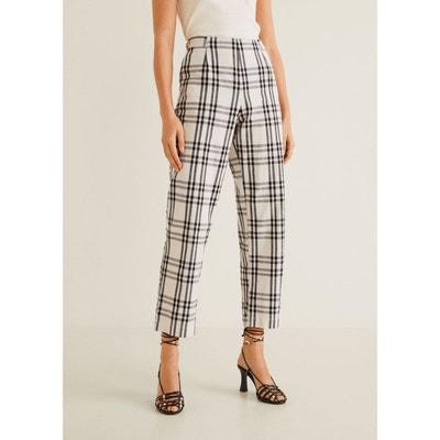 Pantalon droit à carreaux MANGO d8c41783e07