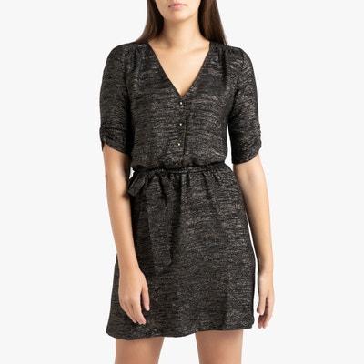 Rechte korte jurk met korte mouwen, Laureen Rechte korte jurk met korte mouwen, Laureen SESSUN