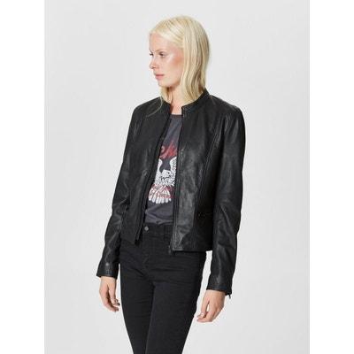 0a669ef06139b Veste en cuir et simili femme en solde SELECTED FEMME   La Redoute
