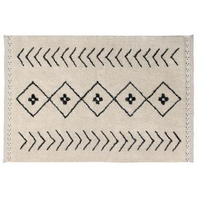 73e16badbd3f Tapis ethnique en coton fait main beige Bereber Rhombs Lorena Canals Tapis  ethnique en coton fait