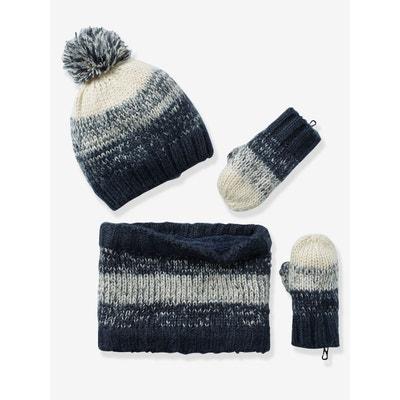 Bonnet garçon + snood + gants ou moufles Bonnet garçon + snood + gants ou  moufles. Soldes. VERTBAUDET cd04482be76