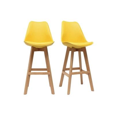 Tabouret de bar jaune   La Redoute