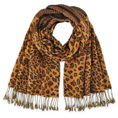 Echarpe léopard orangé Echarpe léopard orangé ALLEE DU FOULARD 8ab64e43bb1