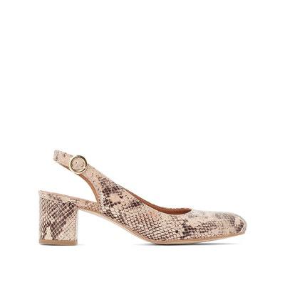 0d85b5539f Chaussures bride arrière en cuir effet python Chaussures bride arrière en  cuir effet python BALZAC PARIS