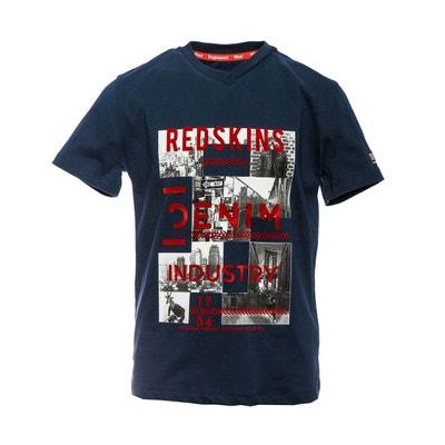 3de088e4dbcc4 T-shirt col V imprimé devant 10-16 ans T-shirt col V. REDSKINS