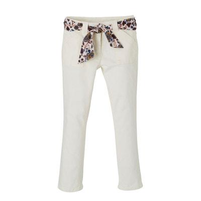 fb4880fe5677 Pantalon fille ceinture foulard imprimé VERTBAUDET