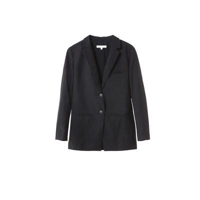 aabd8f6146108 Tailleur intemporel veste décontractée en laine et coton tenue bureau  Tailleur intemporel veste décontractée en laine