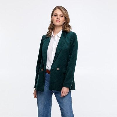 Veste velours vert femme | La Redoute