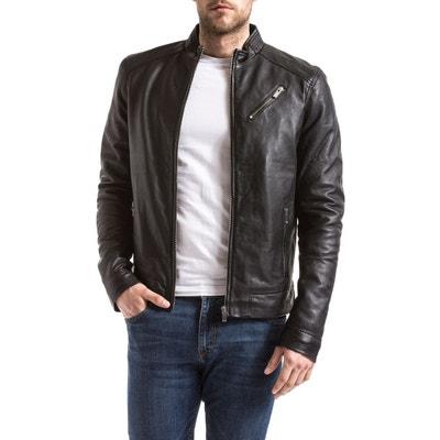 4e4acd768fd7 Blouson, veste en cuir homme en solde   La Redoute