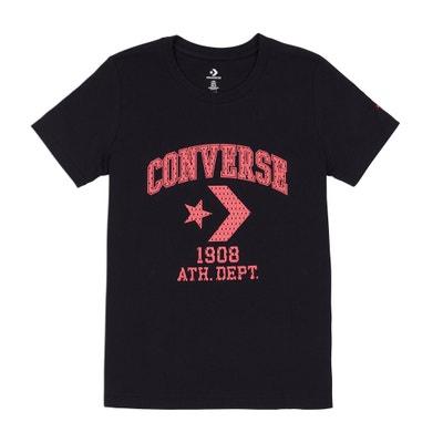 T-shirt scollo rotondo fantasia davanti, puro cotone T-shirt scollo rotondo fantasia davanti, puro cotone CONVERSE