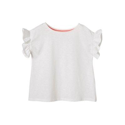 8b0d1ea51bb8a T-shirt fille manches courtes à volants VERTBAUDET