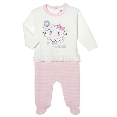 ca89dd7d8a8ab Pyjama bébé velours effet 2 pièce Petit Biscuit PETIT BEGUIN