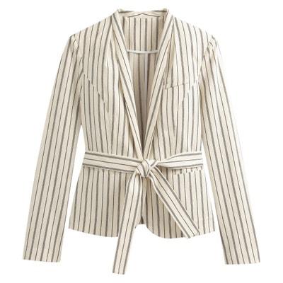 82f22afa5 Striped Tie-Waist Blazer Striped Tie-Waist Blazer LA REDOUTE COLLECTIONS