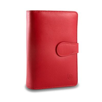 Grand portefeuille pour femme en cuir avec de nombreuses poches er 2  porte-monnaie signé 473310dc2cc