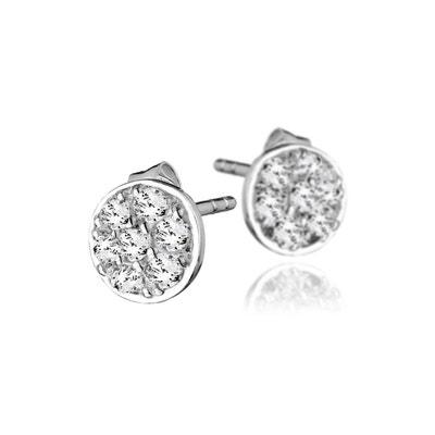Boucles d oreilles puces en argent 925 passivé, brillants, 1.3g CANYON 73052263a4f