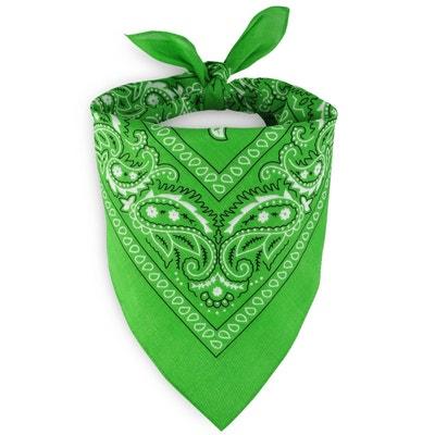 6ab4ee76171 Foulard bandana vert pomme ALLEE DU FOULARD