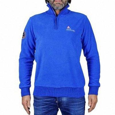 2b5fcac1cf7 peak Mountain - Sweat polaire homme CEMONT- bleu peak Mountain - Sweat polaire  homme CEMONT