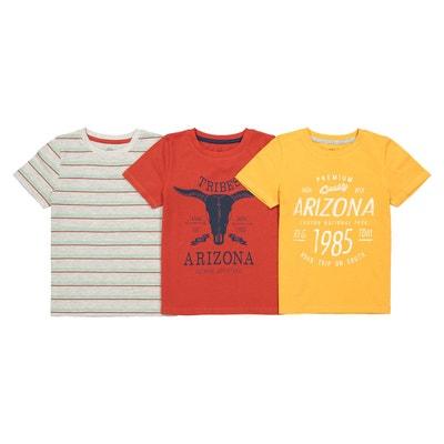 70701f1bc073e Lot de 3 T-shirts imprimés Oeko-Tex 3-12 ans LA REDOUTE