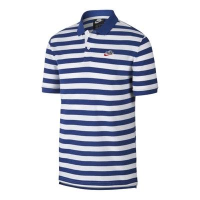 1ef013e08b Striped Cotton Piqué Polo Shirt with Short Sleeves NIKE