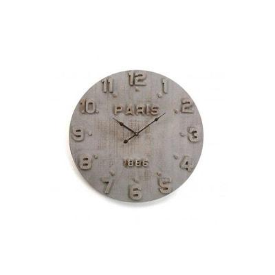 Horloge murale en bois gris paris VERSA a24dce8c2c7a