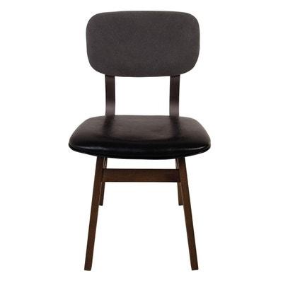 edec5d4e31792 Chaise en simili cuir et tissu Teri x2 ZAGO