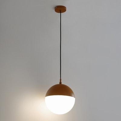 Hanglamp in metaal en opaline Chupa Hanglamp in metaal en opaline Chupa LA REDOUTE INTERIEURS
