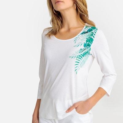 Coton Longues Redoute En Shirt Femme Manches La Solde Tee AfwvHqWx4