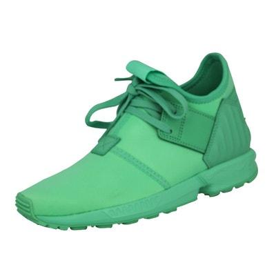 various colors 98edf b48cb Adidas Originals ZX FLUX PLUS K Chaussures Mode Sneakers Enfant Vert adidas  Originals