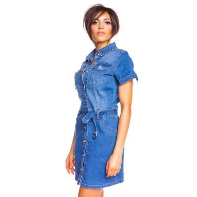 67e126488d1 Robe en jean boutonnée manches courtes emy DOUCEL
