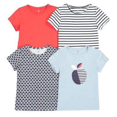 Set van 4 T-shirts met ronde hals 3-12 jaar Set van 4 T-shirts met ronde hals 3-12 jaar LA REDOUTE COLLECTIONS