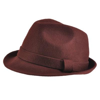 779a91c5961 Chapeau feutre laine Trilby Marron Chapeau feutre laine Trilby Marron  MOKALUNGA