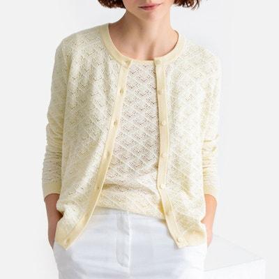 liquidation à chaud images officielles meilleur site Gilet coton blanc femme | La Redoute